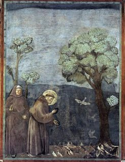 St. Francis Preaching to the Birds, Giotto, 1299